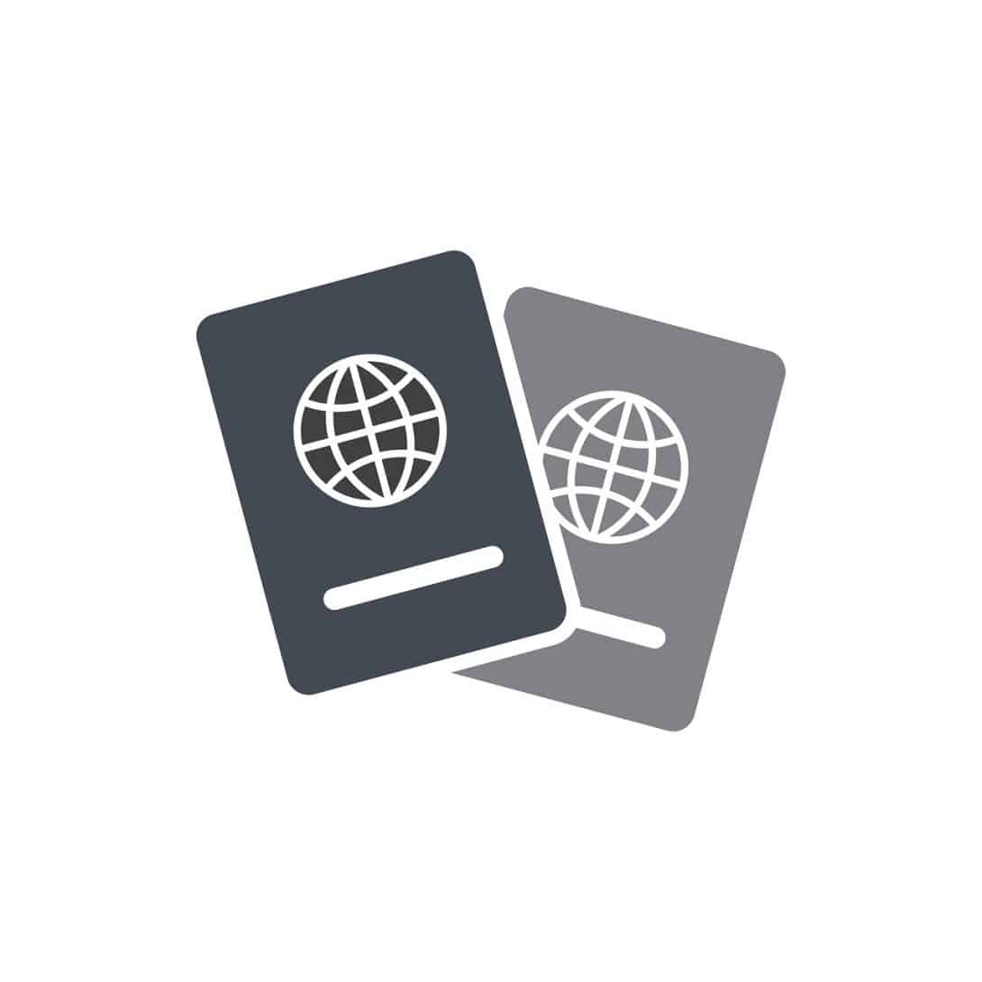 דרכונים בשחור לבן