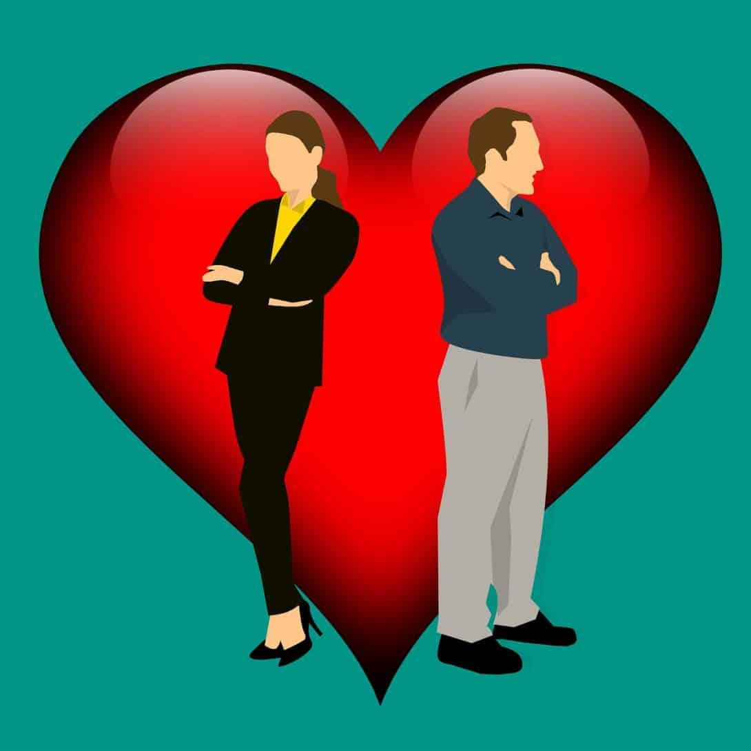 גבר אישה ולב